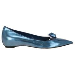 Christian Dior Woman Ballet flats Blue EU 39