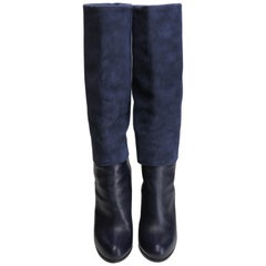 Christian Dior Women's Size 38 Navy Suede & Leather Boots