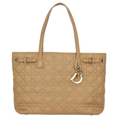 Christian Dior Women's Tote Bag Panarea Beige Fabric