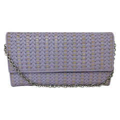 Christian Dior Woven Leather Wallet on Chain w/Dust Bag Store COA Unused
