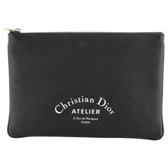 Christian Dior Zip Pouch Leather Small