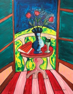 The Window, Large French Expressionist Oil Painting