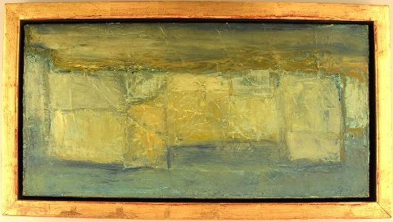 Christian Dyekjær (1940-1991). Modernist landscape. Oil on canvas. Dated 1965. In very good condition. Signed. The canvas measures: 50 x 25 cm. The frame measures: 2.5 cm.