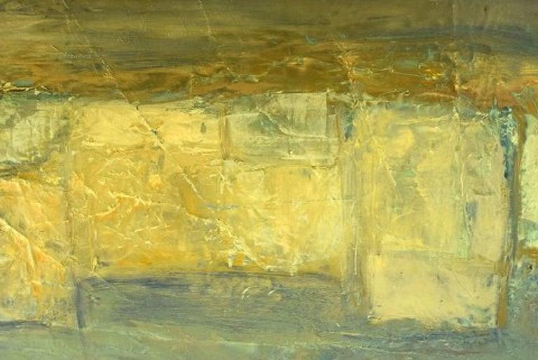 Christian Dyekjær, Modernist Landscape, Oil on Canvas, Dated 1965 In Good Condition For Sale In Copenhagen, Denmark