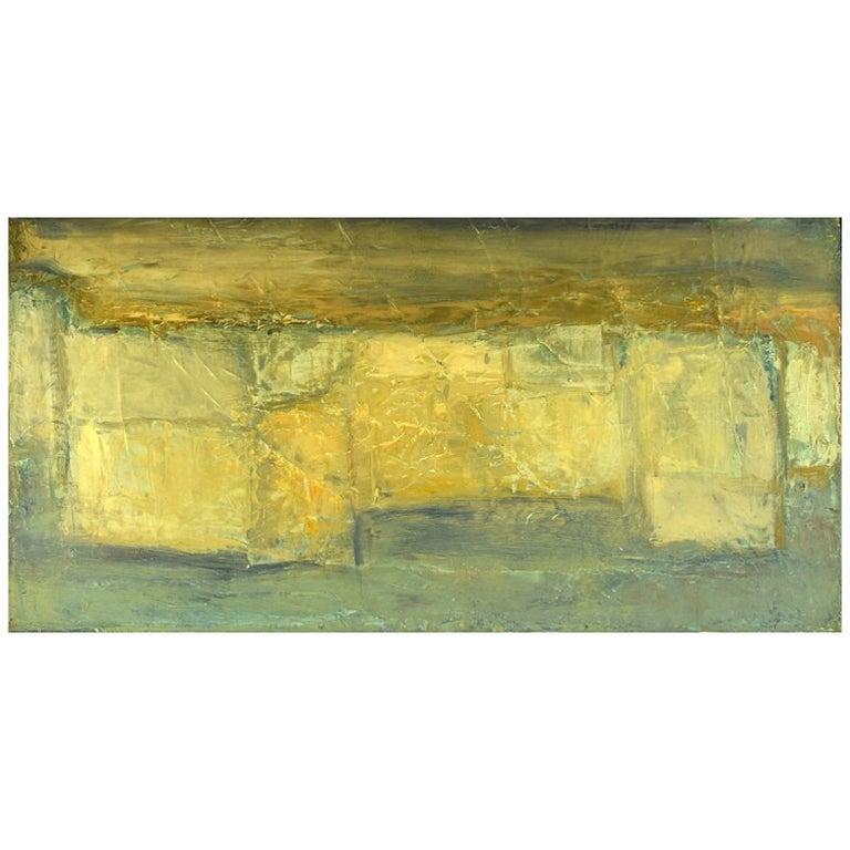 Christian Dyekjær, Modernist Landscape, Oil on Canvas, Dated 1965 For Sale