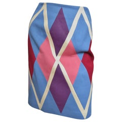 Christian Francis Roth Pieced Color Block Skirt 1980s