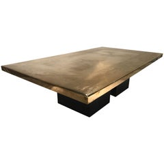 Christian Heckscher Etched Brass Coffee Table
