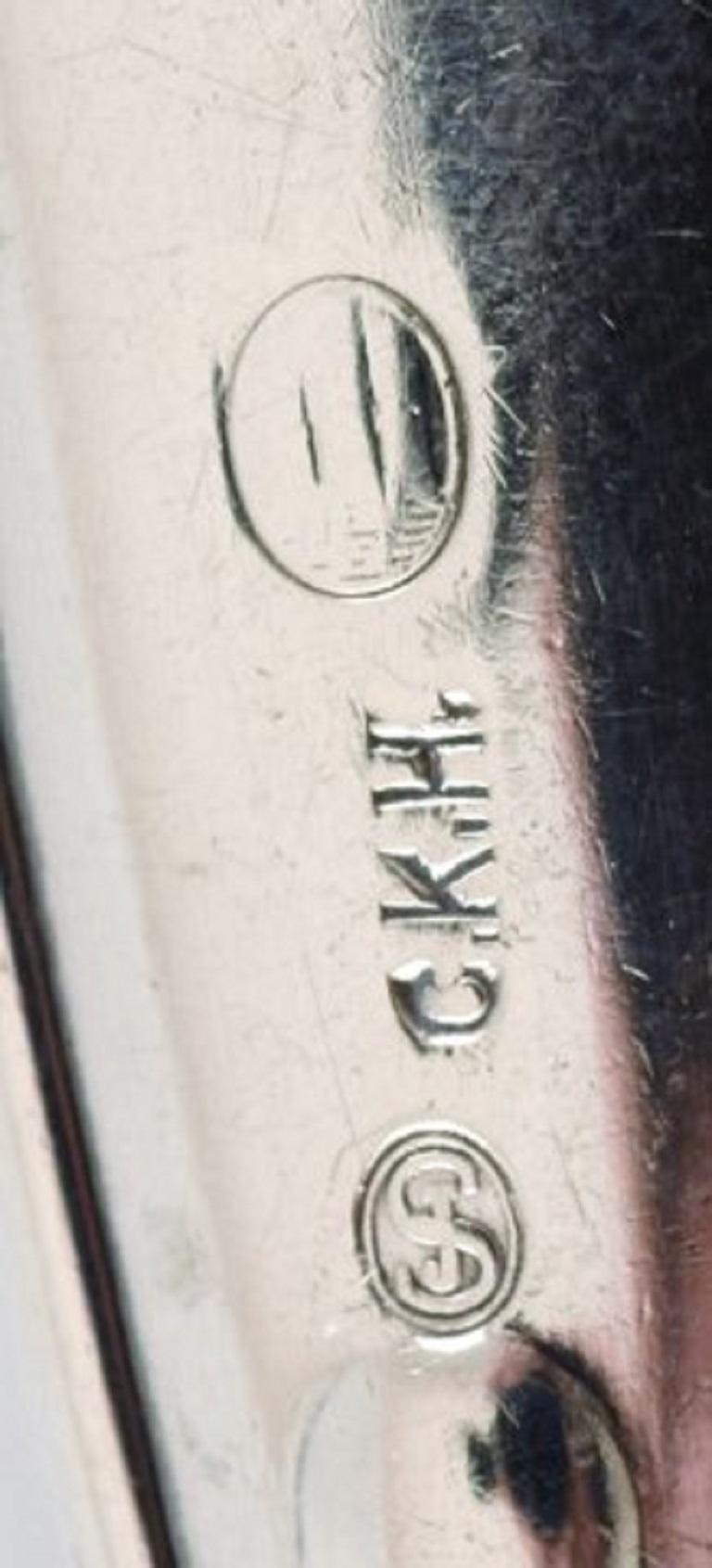 Christian Knudsen Hansen, Danish Silversmith, President Cake Knife in Silver In Good Condition For Sale In Copenhagen, Denmark