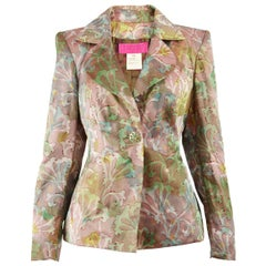 Christian Lacroix 1990s Multicolored Taffeta Tailored Evening Party Jacket