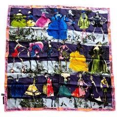 Christian Lacroix 20 Year Anniversary Commemerative Silk Scarf