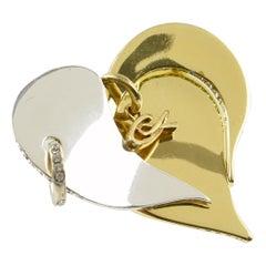 Christian Lacroix Avant-Garde Heart Pin Brooch