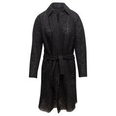 Christian Lacroix Black Textured Long Coat
