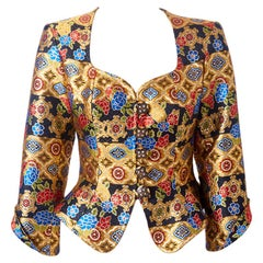Christian Lacroix Brocade Fitted Jacket