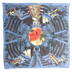 Christian Lacroix Cotton Scarf with Abstract Print