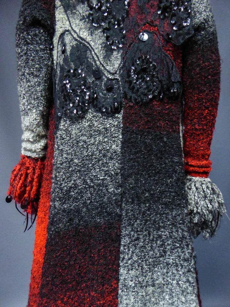 Christian Lacroix Couture Long Woollen Coat Numbered 7809 Circa 1985 For Sale 5