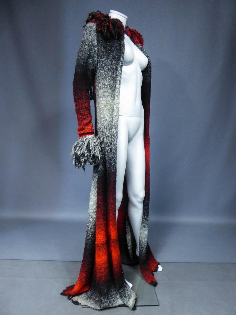 Christian Lacroix Couture Long Woollen Coat Numbered 7809 Circa 1985 For Sale 2
