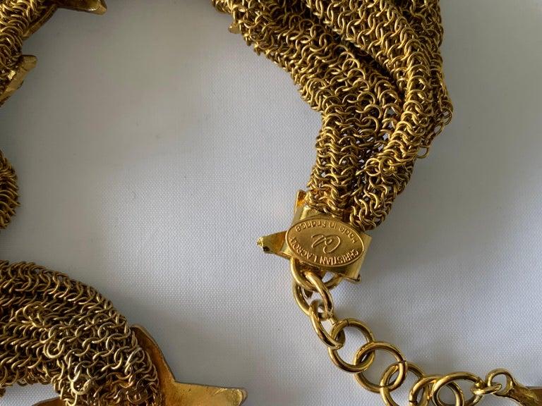 Christian Lacroix Gilt Star Diamante Statement Necklace  For Sale 5