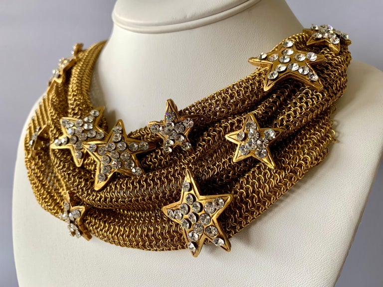 Exceptionally scarce vintage statement necklace by Christian Lacroix, comprised of