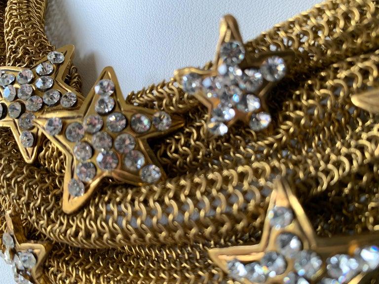 Christian Lacroix Gilt Star Diamante Statement Necklace  For Sale 2