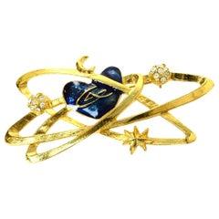 Christian Lacroix Goldtone Galaxy Brooch/Pin
