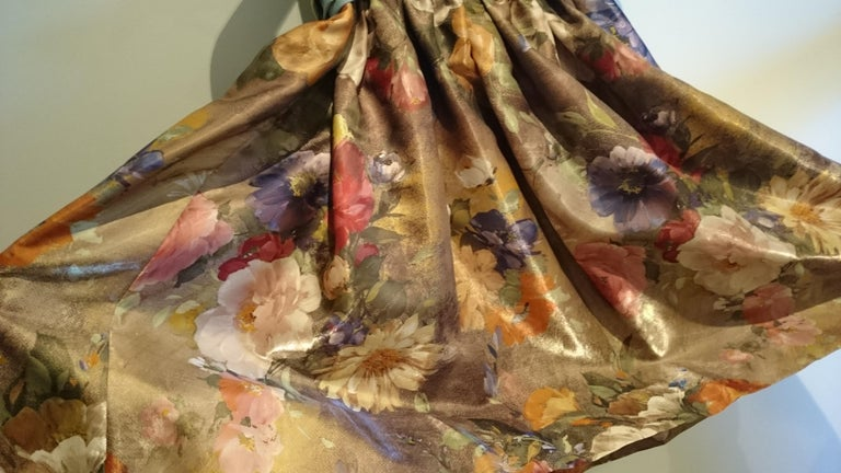 Christian LACROIX green top and artwork floral theme skirt- Unworn New with tags For Sale 6
