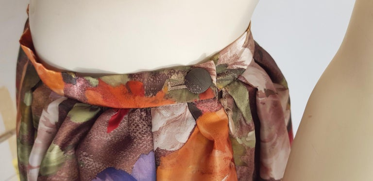 Christian LACROIX green top and artwork floral theme skirt- Unworn New with tags For Sale 3