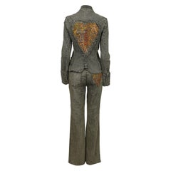 Christian Lacroix Jeans Vintage Embroidered Heart Denim Jacket & Trousers