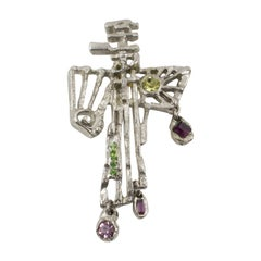 Christian Lacroix Modernist Cross Pin Brooch