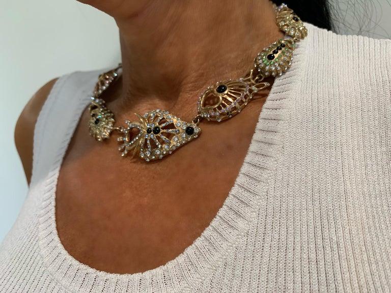 Christian Lacroix Modernist Diamante Statement Necklace  For Sale 6