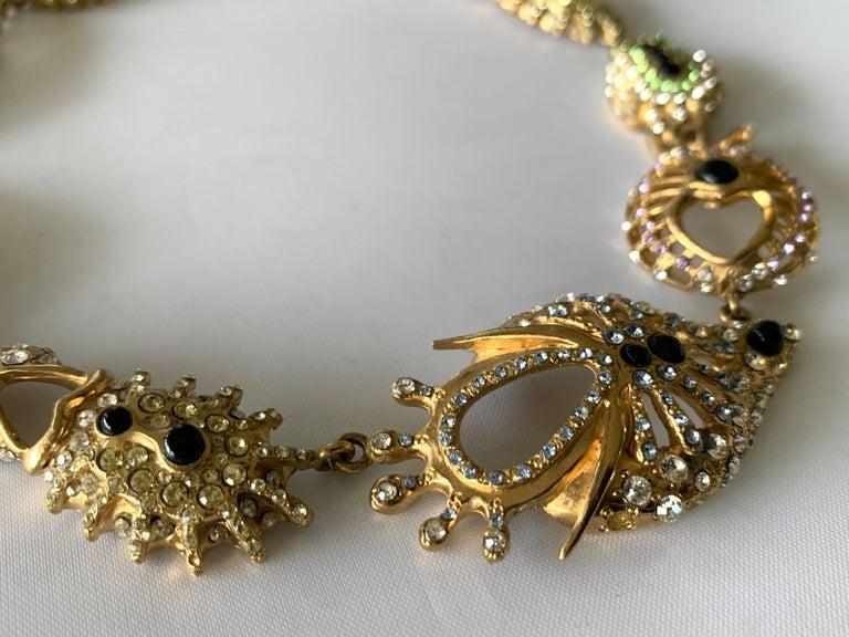 Christian Lacroix Modernist Diamante Statement Necklace  For Sale 1