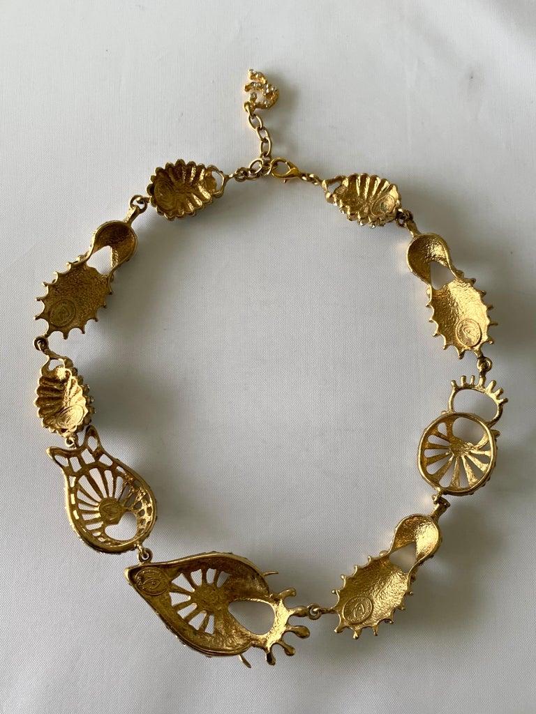 Christian Lacroix Modernist Diamante Statement Necklace  For Sale 2