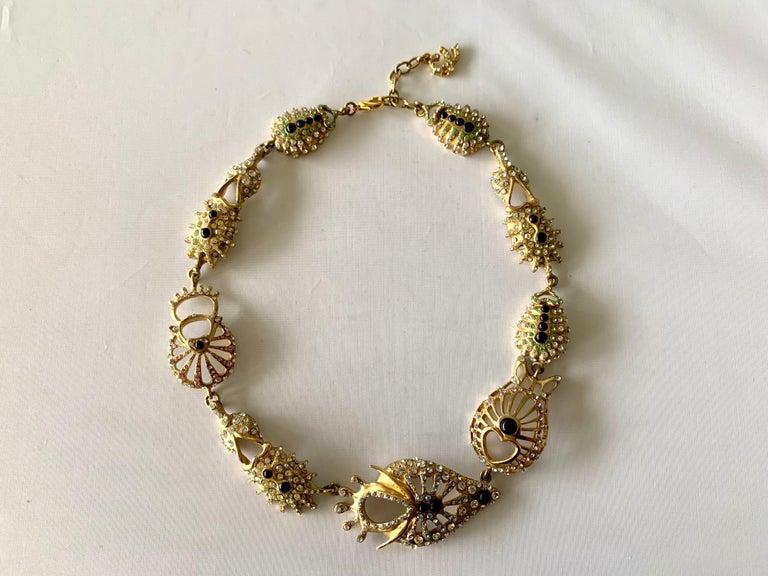 Christian Lacroix Modernist Diamante Statement Necklace  For Sale 3