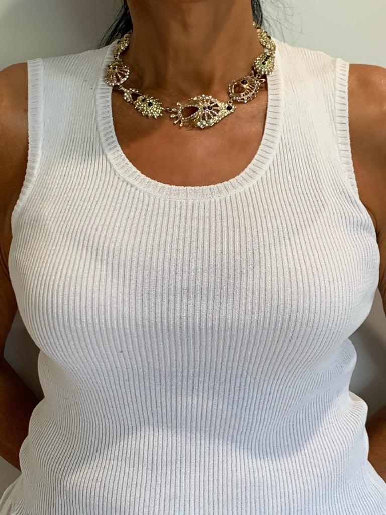 Christian Lacroix Modernist Diamante Statement Necklace  For Sale 4