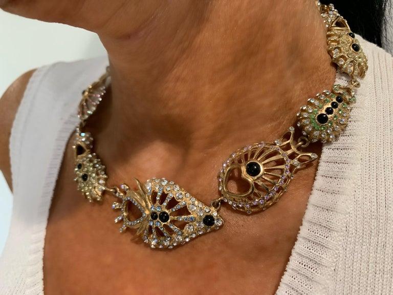 Christian Lacroix Modernist Diamante Statement Necklace  For Sale 5