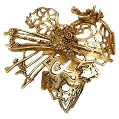 Christian Lacroix Paris Broken Heart Pin Brooch Pendant