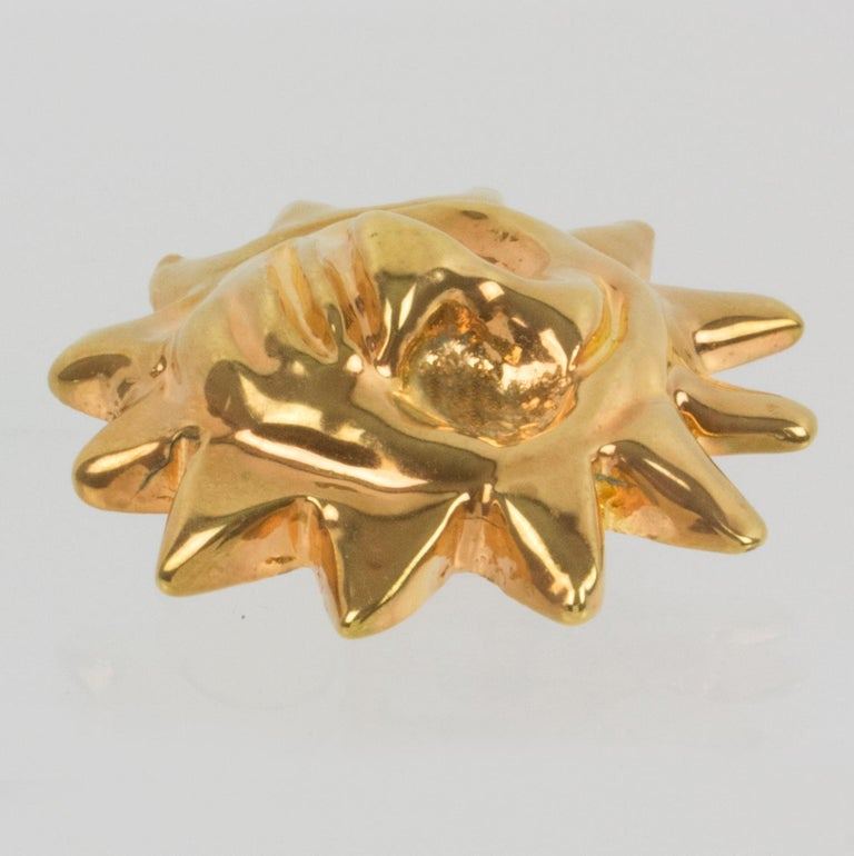 Christian Lacroix Sun Mask Clip Earrings  For Sale 2