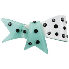 Christian Lacroix Resin Bow Pin Brooch