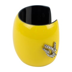 Christian Lacroix Runway Yellow Resin Cuff Bracelet