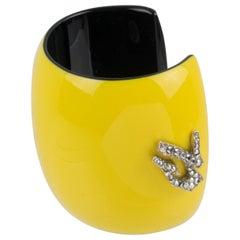 Christian Lacroix Runway Yellow Resin Cuff Bracelet