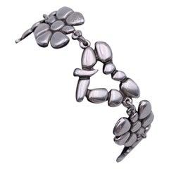 Christian Lacroix Silver Metal Love Story Heart Bracelet Mint