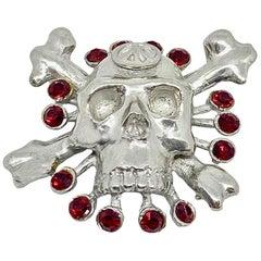 CHRISTIAN LACROIX Skull Brooch