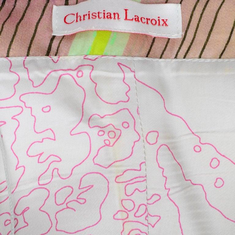 Christian Lacroix Spring 2005 Runway Silk Chiffon Ruffled Strapless Dress For Sale 13