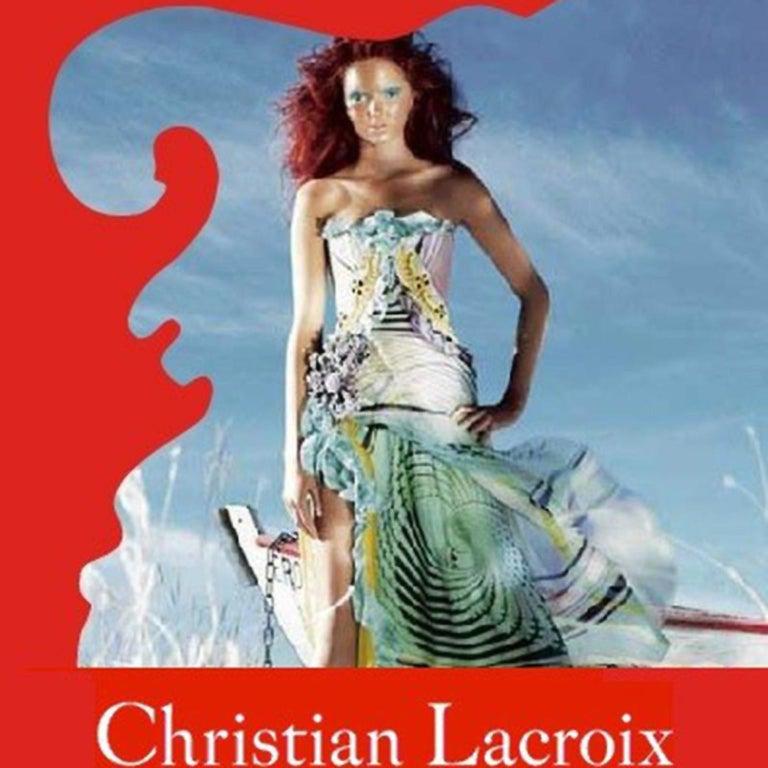 Christian Lacroix Spring 2005 Runway Silk Chiffon Ruffled Strapless Dress For Sale 14