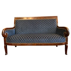 Christian Lacroix Upholstered 19th Century Original French Empire Settee