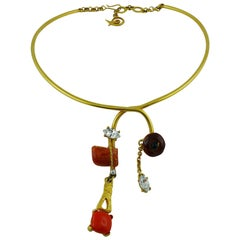Christian Lacroix Vintage Abstract Jewelled Choker Necklace
