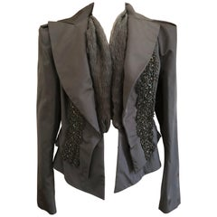 Christian Lacroix Vintage Black Beaded Evening Jacket from Autumn 1999