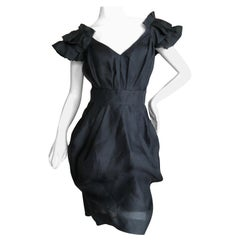 Christian Lacroix Vintage Black Silk Cocktail Dress