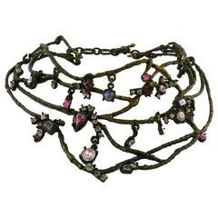 Christian Lacroix Vintage Branches Design Choker Necklace