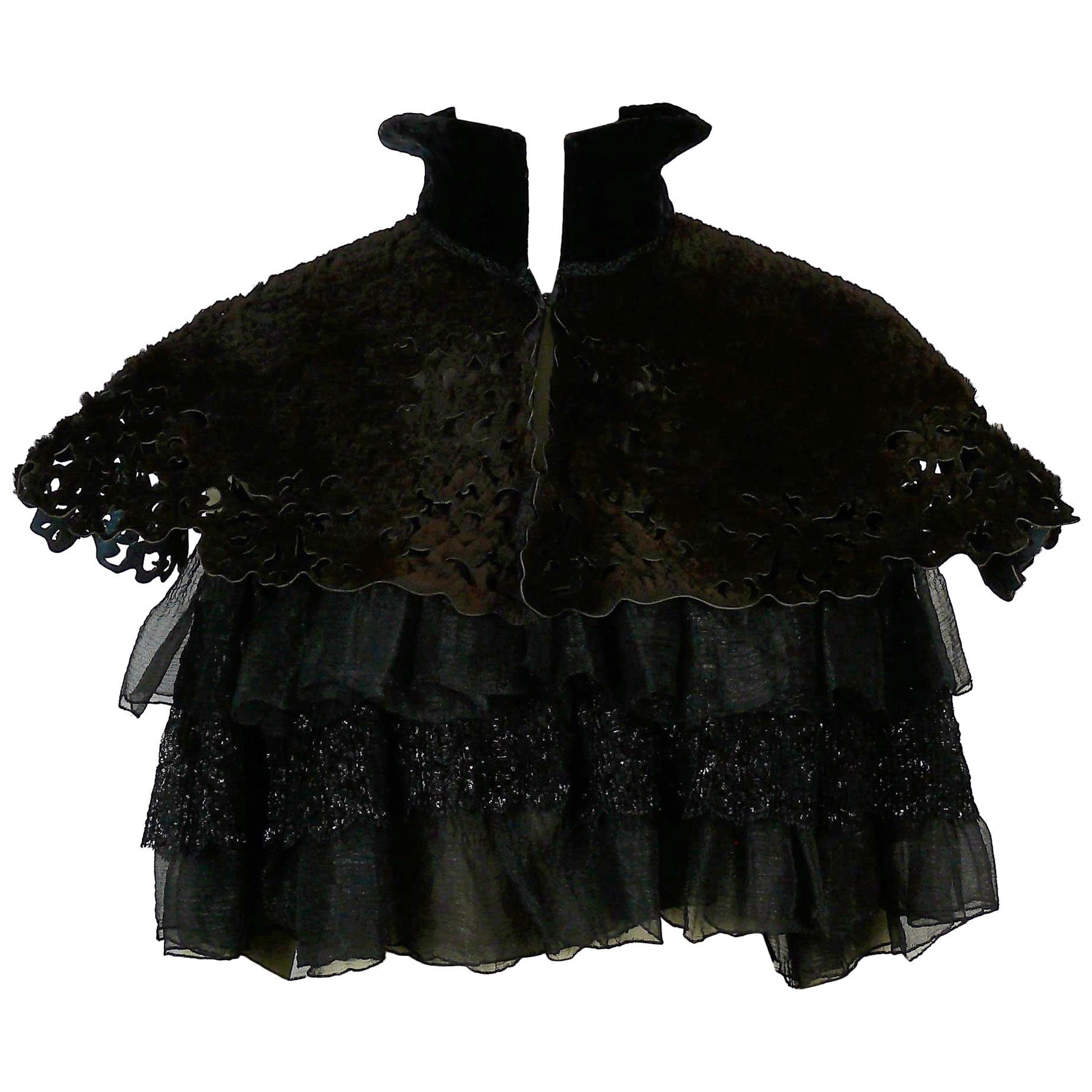 Christian Lacroix Vintage Cape Short Cloak