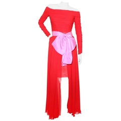 Christian Lacroix Vintage Chiffon Dress